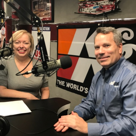 Mary McCarthy and Bill Evans with Apex Payroll at a podcast recording for The Successful Micropreneur Podcast