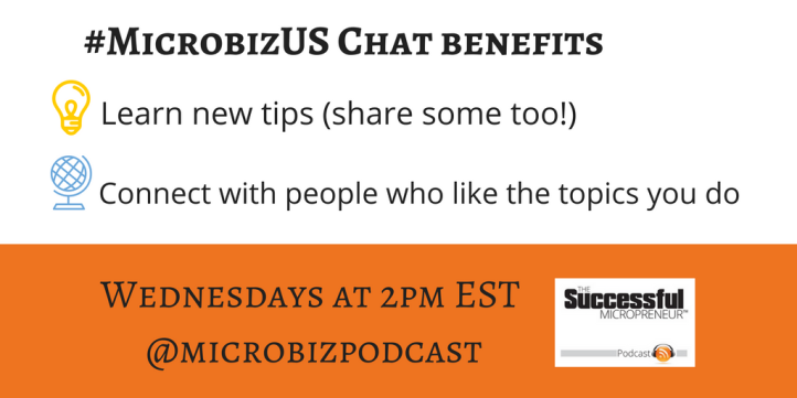 #MicrobizUS Twitter Chat Benefits graphic