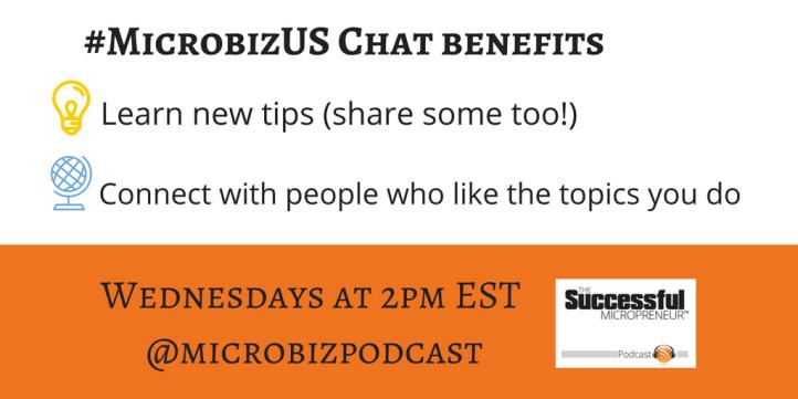 #MicrobizUS Twitter Chat Benefits graphic
