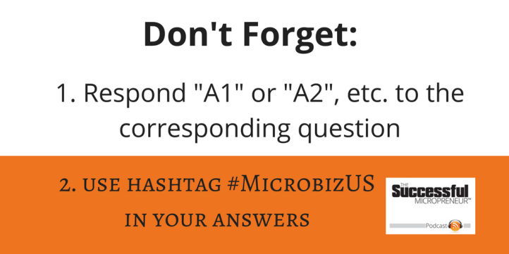 Twitter chat rules graphic for #MIcrobizUS chat on Wednesdays at 2pm EST