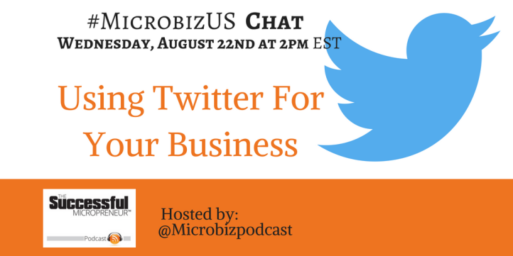 Graphic for the Twitter chat - #MicrobizUS WEDNESDAY 2PM - Using Twitter for your business